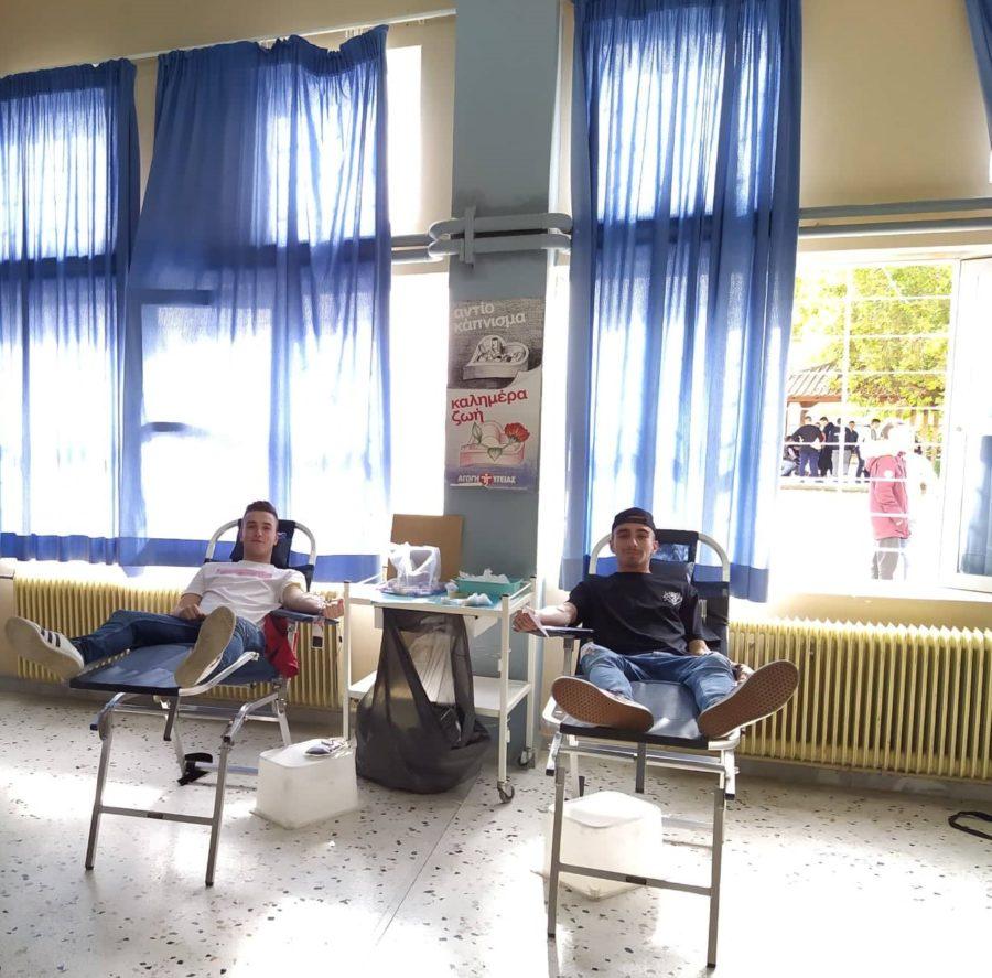 Εθελοντική αιμοδοσία πραγματοποιήθηκε στο ΕΠΑΛ Τυρνάβου