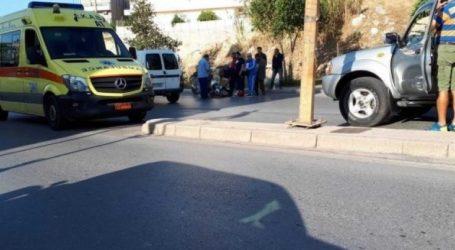 Στο νοσοκομείο οδηγός μοτοσικλέτας μετά από σοβαρό τροχαίο
