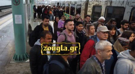 Τεράστια καθημερινή ταλαιπωρία για τους επιβάτες της προαστιακής γραμμής Πειραιάς-Χαλκίδα