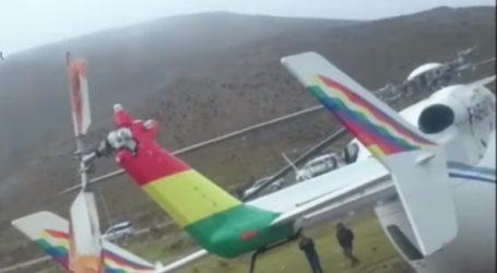 Αναγκαστική προσγείωση για το ελικόπτερο του Μοράλες