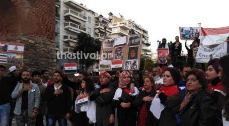 Διαμαρτυρία προσφύγων στη Θεσσαλονίκη