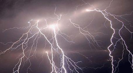 Προβλήματα στην ηλεκτροδότηση από ισχυρές καταιγίδες και κεραυνούς