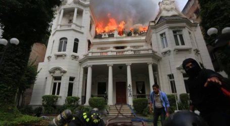 Στις φλόγες πανεπιστήμιο στο Σαντιάγο