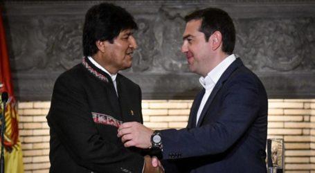 Αλληλεγγύη του Αλ. Τσίπρα προς τον Έβο Μοράλες και το λαό της Βολιβίας