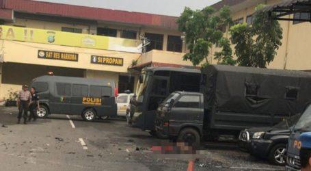 Ισχυρή έκρηξη έξω από το αρχηγείο της αστυνομίας στην πόλη Μεντάν