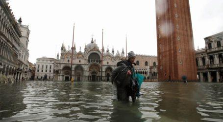 Έκλεισε η πλατεία του Αγίου Μάρκου στη Βενετία εξαιτίας νέας πλημμύρας