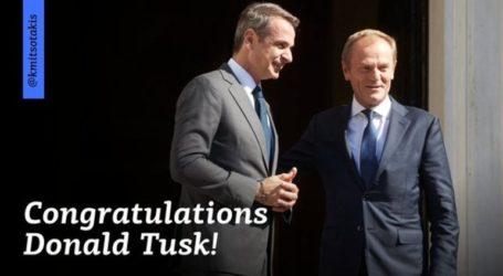 Συγχαρητήρια Μητσοτάκη σε Τουσκ για την εκλογή του