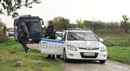 Μεγάλη επιχείρηση της αστυνομίας σε καταυλισμό Ρομά στην Ανθήλη Φθιώτιδας