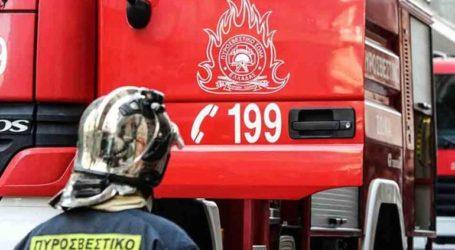 Φωτιά στο ισόγειο πολυκατοικίας στο Ηράκλειο