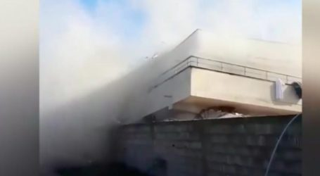 Βίντεο με κτήριο που καταρρέει