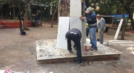 Παρέμβαση καθαριότητας-αποκατάστασης και εορταστικού στολισμού στην Πλατεία Εξαρχείων