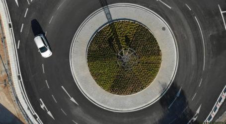 Δείτε εναέριες εικόνες από τον νέο κυκλικό κόμβο της Αγριάς [φωτογραφίες]