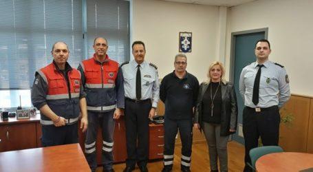 Στον Αστυνομικό Διευθυντή Λάρισας στελέχη του ΕΚΑΒ Θεσσαλίας