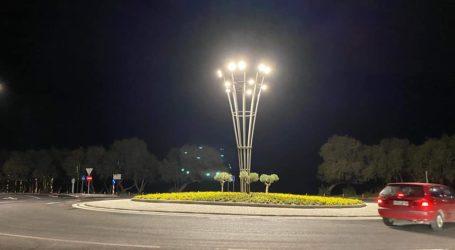 Δείτε νυχτερινές εικόνες από τον κυκλικό κόμβο της Αγριάς