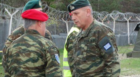 Στη στρατιωτική άσκηση «Σιδηρά Ξυήλη» στο Κιλκίς ο διοικητής της 1ης Στρατιάς