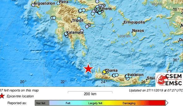 Σεισμική δόνηση 5.8 ρίχτερ στο Αιγαίο έγινε αισθητή και στη Λάρισα!