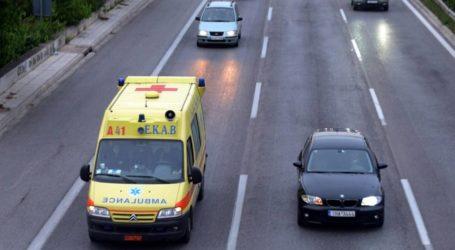 Ανετράπη ΙΧ σε τροχαίο ατύχημα έξω από τον Βόλο – Ένας τραυματίας