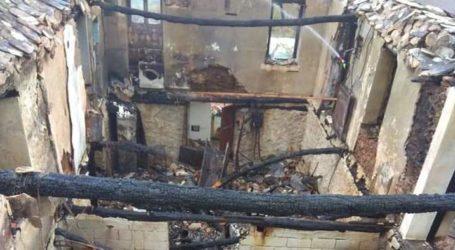 Πασίγνωστου Βολιώτη πολιτικού το σπίτι που κάηκε ολοσχερώς στο Πήλιο [εικόνες]
