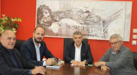 Συνάντηση εργασίας μεταξύ Αγοραστού και κλιμακίου της ΚΟΕ για τοΠαγκόσμιο Πρωτάθλημα Υδατοσφαίρισης σε Λάρισα και Βόλο