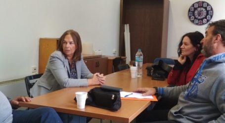 Με τους εργαζομένους στους ΟΤΑ Μαγνησίας συναντήθηκε η Κατερίνα Παπανάτσιου