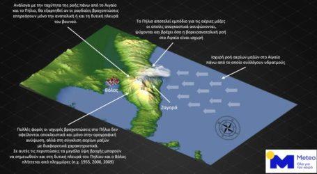 «Πνίγηκε» το Πήλιο με 340 χιλιοστά βροχής στη Ζαγορά σε 24 ώρες – Η ερμηνεία του φαινομένου