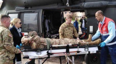 Αεροδιακομιδή Αμερικανού στρατιώτη από το Στεφανοβίκειο στο Πανεπιστημιακό – Φωτό και βίντεο από εντυπωσιακή άσκηση