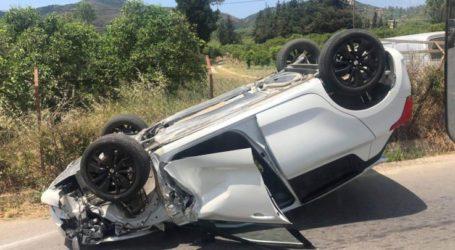Τούμπαρε αυτοκίνητο έξω από τη Λάρισα – Στο Γενικό Νοσοκομείο ένας τραυματίας