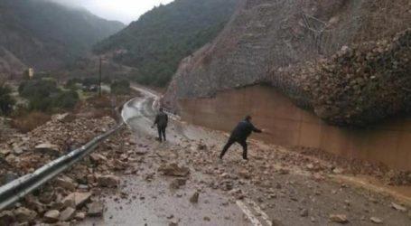 Πήλιο: Εκτεταμένες κατολισθήσεις λόγω της συνεχιζόμενης βροχόπτωσης