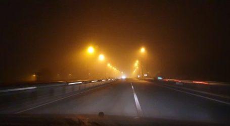 Σκεπάστηκε από ομίχλη η Εθνική Οδός Λάρισας – Τρικάλων (φωτο)