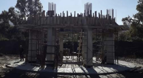 Προχωρούν οι εργασίες κατασκευής του νέου υδατόπυργου στον Παλαιόπυργο του Δήμου Αγιάς