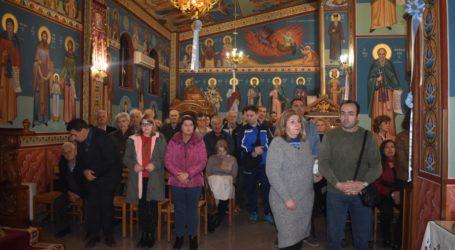 Πλήθος κόσμου στην περιφορά της εικόνας και του λειψάνου του Αγίου Στυλιανού στη Λάρισα (φωτο)