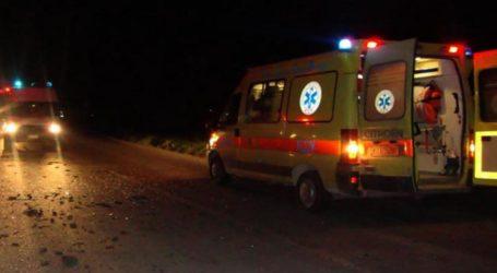 Τροχαίο με ένα τραυματία έξω από τον Τύρναβο