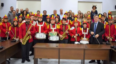 Κάλαντα στο Θανάση Νασιακόπουλο από τη φιλαρμονική ορχήστρα του δήμου Κιλελέρ