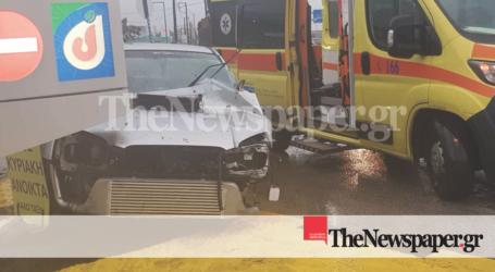 Σοβαρό τροχαίο ατύχημα στον Βόλο – Εκσφενδωνίστηκε ο οδηγός [αποκλειστικές εικόνες και βίντεο]