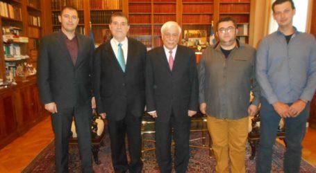 Επίσκεψη στον Πρόεδρο της Δημοκρατίας από το Ινστιτούτο Ανάπτυξης Πηλίου.