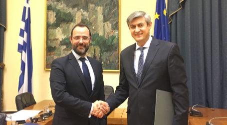 Με τον πρέσβη της Μολδαβίας συναντήθηκε ο Κων. Μαραβέγιας