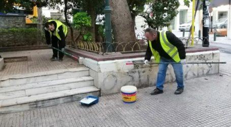 Παρέμβαση καθαριότητας-αποκατάστασης στον Άγιο Διονύσιο στο Κολωνάκι από τον Δήμο Αθηναίων