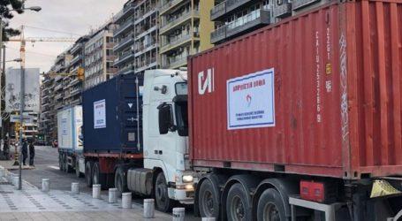 Αναχώρησε για την Αλβανία η ανθρωπιστική βοήθεια της Περιφέρειας Κεντρικής Μακεδονίας