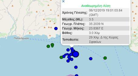 Τέσσερις σεισμικές δονήσεις σε διάστημα είκοσι λεπτών στην Κρήτη