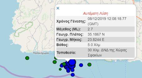 Νέοι σεισμοί μικρής έντασης στην Κρήτη