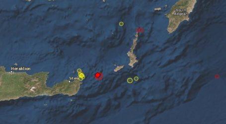 Σεισμός 5,6 Ρίχτερ σε θαλάσσια περιοχή μεταξύ Κρήτης-Καρπάθου