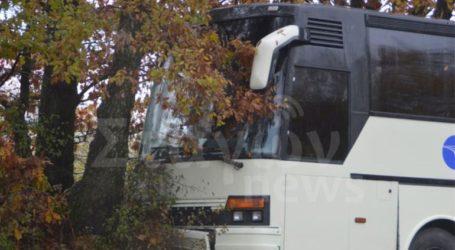 Τροχαίο με λεωφορείο που μετέφερε μαθητές κοντά στην Καλαμπάκα