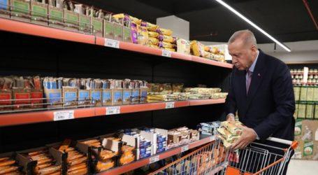 Ο Ερντογάν κατέβηκε από το παλάτι του και πήγε για ψώνια στο σούπερ μάρκετ