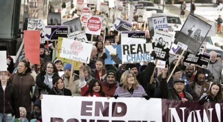 Πορεία ενάντια στη φτώχεια κατά την ημέρα μνήμης του Μάρτιν Λούθερ Κινγκ