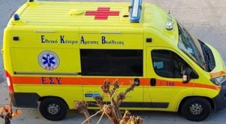 Εγγονή και παππούς τραυματίστηκαν σε τροχαίο στη Λάρισα