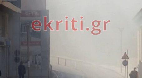 Φωτιά σε συνεργείο στο Ηράκλειο