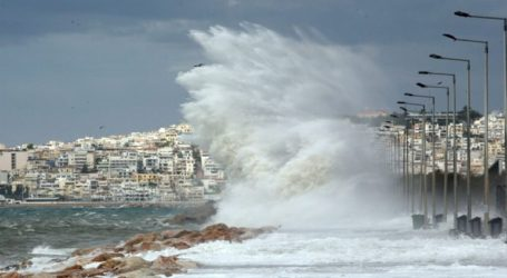 Κύμα κακοκαιρίας με ισχυρές βροχές και θυελλώδεις ανέμους μέχρι 9 μποφόρ