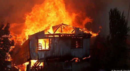 Σε εξέλιξη βρίσκεται μεγάλη φωτιά στη Χιλή