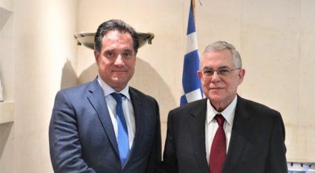 Με τον Λουκά Παπαδήμο συναντήθηκε ο Άδωνις Γεωργιάδης