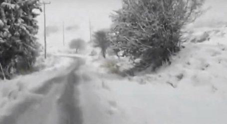 Στους 20 πόντους έφθασε το χιόνι στην Κορινθία